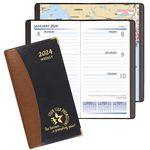 Custom Carriage Weekly Pocket Planner w/ Brass Corners