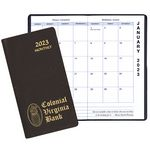 Custom Monthly Pocket Planner w/ Continental Vinyl Cover - Upright Format