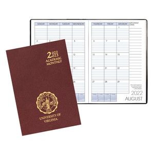 Academic Monthly Planner w/ Leatherette Cover