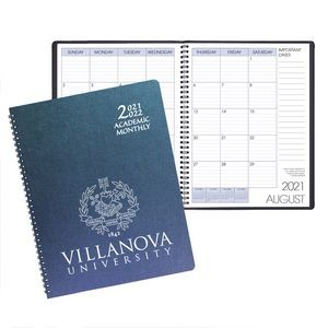 Academic Wire Bound Monthly Desk Planner w/ Illusion Cover