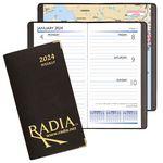 Custom Continental Weekly Pocket Planner w/ Brass Corners