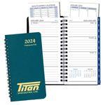 Custom Time Management Pocket Planner w/ Leatherette Cover