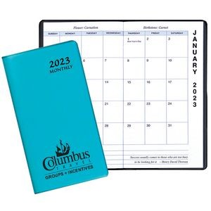 Monthly Pocket Planner w/ TechnoColor Cover - Upright Format