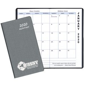 Monthly Pocket Planner w/ Frosted - Upright Format