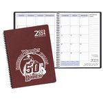 Custom Two Year Monthly Desk Planner w/ Leatherette Cover