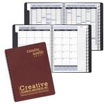 Custom Executive Monthly Planner w/ Leatherette Cover