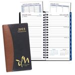 Custom Time Management Pocket Planner w/ Carriage Vinyl Cover