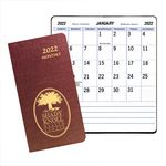 Custom Large Print Monthly Pocket Planner w/ Illusion Cover
