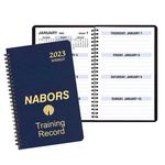 Custom Large Print Weekly Desk Planner w/ Leatherette Cover