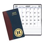 Custom Large Print Monthly Pocket Planner w/ Carriage Vinyl Cover