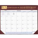 Custom Deluxe Continental Desk Pad Calendar