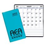 Custom Large Print Monthly Pocket Planner w/ Technocolor Cover