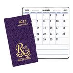 Custom Large Print Monthly Pocket Planner w/ Cobblestone Cover