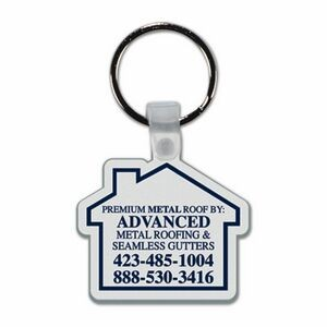 Soft Plastic Key Chain - House