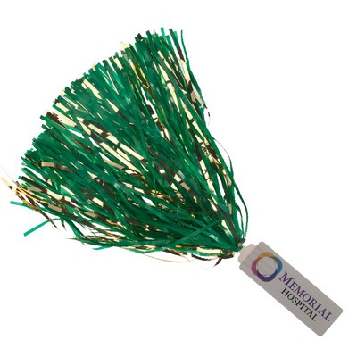 "Spirit Stick Pom - 2"" x 6"" Deluxe Handle, Glitter Streamers"