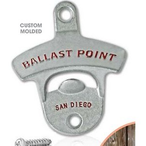 Wall Mounted Bottle Opener - Standard (Matte Silver)