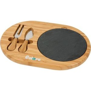 Fromagio Bamboo/Slate Cheese Set