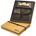 Custom Ferrero Rocher Chocolates & Americana Leather Wrapped Journal Gift Set