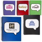 Custom Logo-Burst Spiral Notebook
