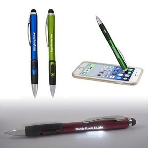 Light-Up-Your-Logo Pen Stylus w/Matte Finish