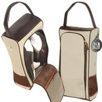 Custom Leeman Woodbury Microfiber Golf Shoe Carrying Case
