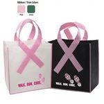 Custom Domestic Ribbon Grocery Shopper Bag