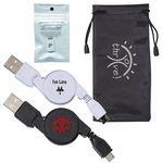 Custom Retracting USB Cable & MFi Lightning Adapter Kit