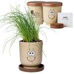 Custom Goofy Grow Pot Eco Planter Set w/ Chive Seeds