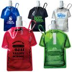 Custom T Shirt Shaped Collapsible Water Bottle