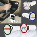 Custom Round USB Car Charger