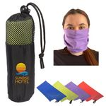 Custom Microfiber Quick Dry & Cooling Towel in Mesh Pouch