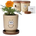 Custom Goofy Grow Pot Eco Planter Set w/ Marigold Seeds