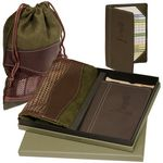 Custom Leeman Woodbury Golf Pouch/ Scorecard Holder Gift Set