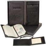 Custom Leeman Lloyd Harbor Passport & Magnetic Luggage Tag Set