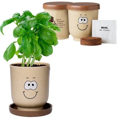 Goofy™ Grow Pot Eco Planter Set w/ Basil Seeds