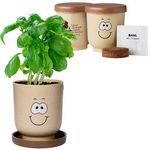 Custom Goofy Grow Pot Eco Planter Set w/ Basil Seeds