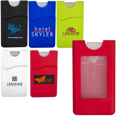 Silicone Wallet Sleeve w/Sanitizer - 0.67 Oz.