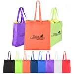 Custom Heat Sealed Non-Woven Value Tote Bag with Gusset