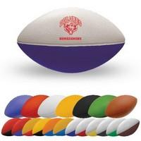 "Mini 7/"" Foam Football Sports Ball 2-Tone Orange /& White NEW"