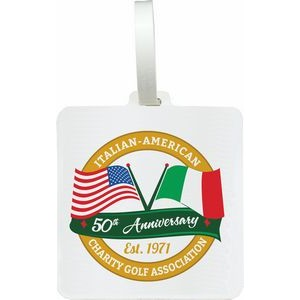 Golf Bag Tag - Square - Direct Substrate