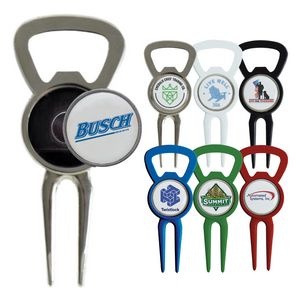 Magnetic Ball Marker Bottle Opener Divot Tool