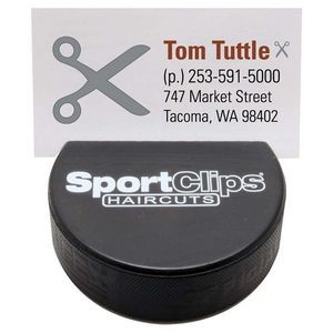 Hockey Puck Business Card Holder