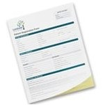 "Short Run Full Color 3 Part Custom Business Forms (5½""x 8½"")"