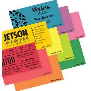 Spot Color Specialty Astrobright© Papers Business Cards (1 Side)