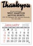 Custom Value Stick Thank You Calendars