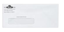 Spot Color Standard Gum Flap Business Envelopes - Security Tint Poly Window
