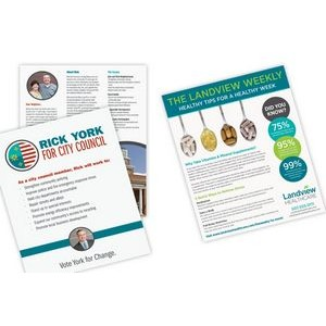"Full Color CLASSIC CREST® or CLASSIC® 1 Sided Sales Sheet (8½""x 14"")"