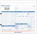 Custom Auto Repair Order Forms - 3 Part (8 ½
