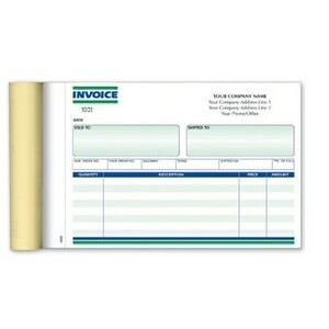 "Ruled 2 Part Invoice Form Book (7¾""x 5½"")"