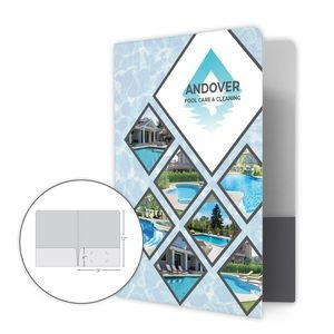 2 Pocket Standard Presentation Folder w/Rounded Corners - Class 1 Stock